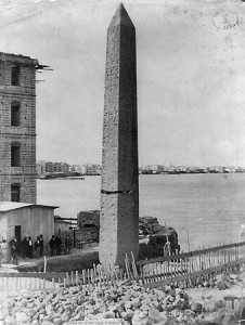 Cleopatra's Needle in Alexandria, ca. 1880; old archive photo