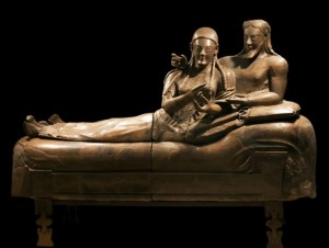 Sarcophagus of The Spouses: http://www.italianways.com/the-sarcophagus-of-the-spouses-everlasting-etruscan-love/