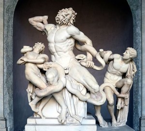 Credit: Creative Commons Laocoön and his sons, also known as the Laocoön Group. Marble, copy after an Hellenistic original from ca. 200 BC. Found in the Baths of Trajan, 1506.