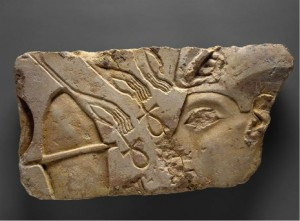 Egyptian; Armarna, King or Queen offering to the Aten. 1345-1335 B.C.E., limestone, 23.8 cm x 44.5 cm, The Metropolitan Museum of Art. Available from: ARTstor, http://library.artstor.org (accessed 15 April 2015).