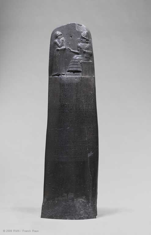 The Stele of Hammurabi.  © Musée du Louvre, Paris. This image is for non-commercial scholarly use.
