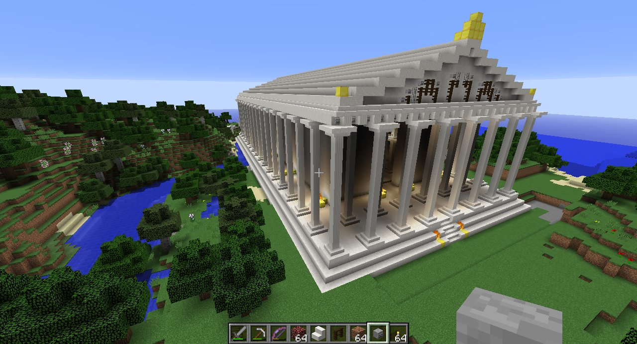 Greek Architecture Minecraft ancient greece's parthenon: a minecraft reconstruction – ancient art