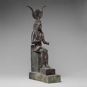 Statuette of Isis nursing Horus.